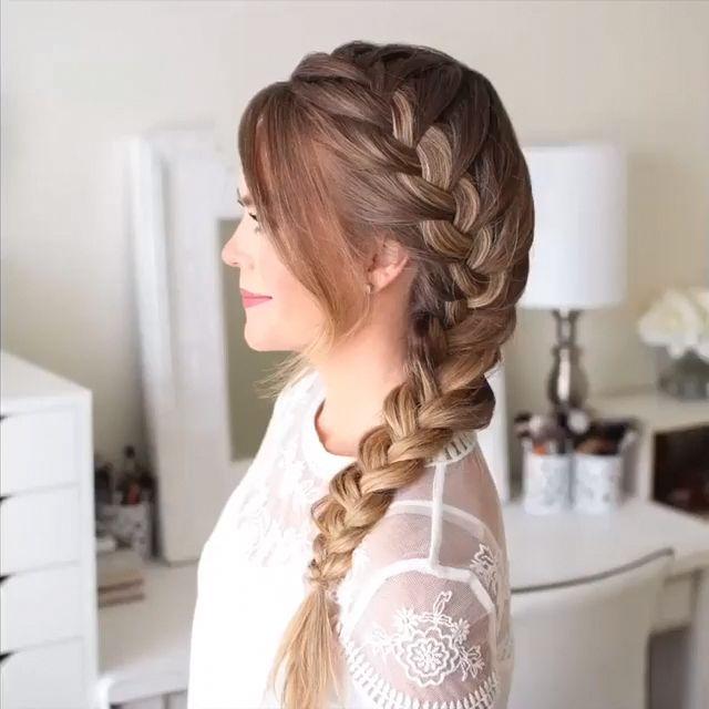 braided hairstyle video #braidstyles #hairtutorial #hairvideos #braidedhair #dutchbraids #frenchbraid #videotutorial #longhairstyles