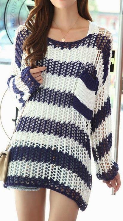Wild Fashion Crochet Sweater - http://fashionable.allgoodies.net/2014/03/wild-fashion-crochet-sweater/