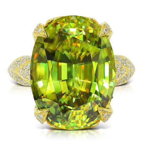 Collection Kat Florence - Bague pour femme en or sertie d'une Sphène de Russie, pierre dont l'éclat est comparable au diamant - Juwelo Bijouterie en ligne