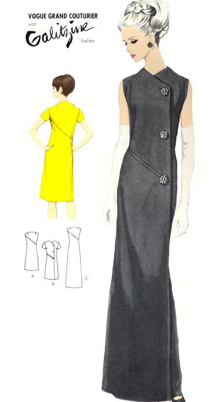 """Burda patterns Spring / Summer 66 - burdafashion.com - In some fantasy world, I am 8 foot tall and do not have to rely on 12"""" platforms to wear this dress."""
