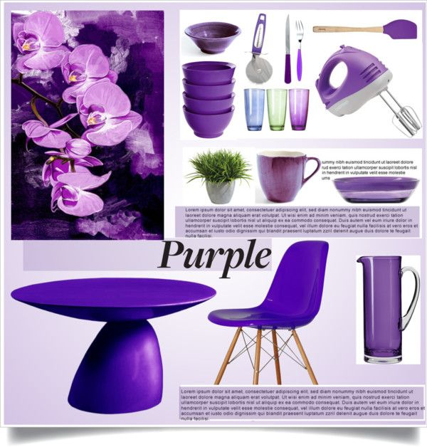 88 Best Pretty Purple Kitchens Images On Pinterest