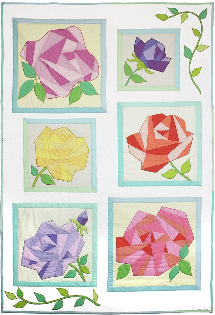 Michael Miller Fabrics A Rose By Any Other Name - FREE QUILT PATTERNS - GET INSPIRED
