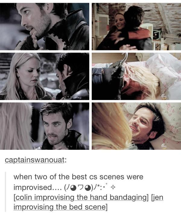 Colin & Jen improvised two of the best Captain Swan scenes ❤