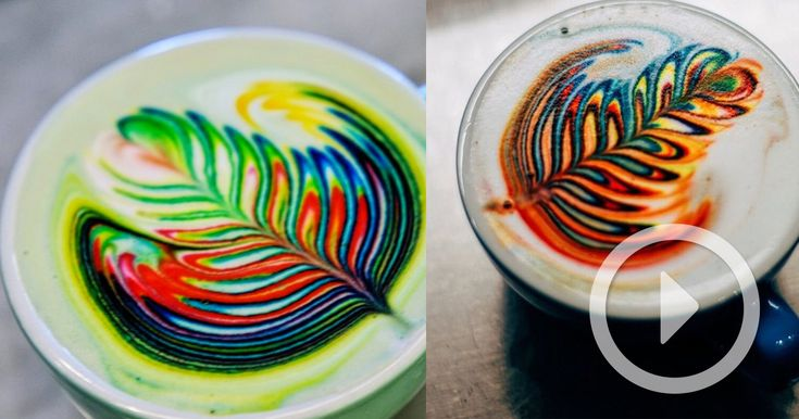 Over the last few days Las Vegas-based barista Mason Salisbury has been surprising some of his customers by pouring a regular looking latte or cappuccino that suddenly ends with a flourish of foamy color. The technicolor beverages resemble the patterns from tie dye t-shirts and are fully edible,