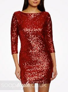 EastEnders Linda Carter // Kellie Bright // Linda's Red Sequin Dress - 10th January '14 [ Click photo for details ❤ ]