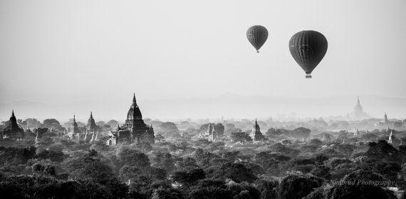 Fine Art Photography Buddhist Temple Sunset by NadbradDesigns