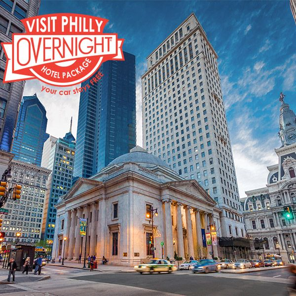 The Visit Philly Overnight Hotel Package™ — visitphilly.com  Looking for an excuse to visit Philadelphia? The new and improved Visit Philly Overnight Hotel Package™ is just the thing. The two-night package includes FREE hotel parking so you can drive into town and not have to worry about finding and paying for parking.  And you can use it to book any two consecutive nights of the week: