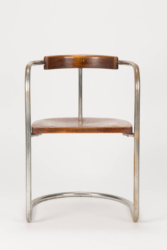"""""""The Bauhaus fights imitation, inferior craftsmanship and artistic dilettantism"""" - WALTER GROPIUS - (Antique Bauhaus Steel Tube Cantilever Chair, Italy, 1930s)"""