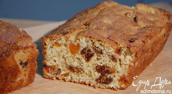 Фруктовый хлеб с отрубями.       Сухофрукты можно использовать любые — подойдет изюм, чернослив, вяленая вишня или клюква.