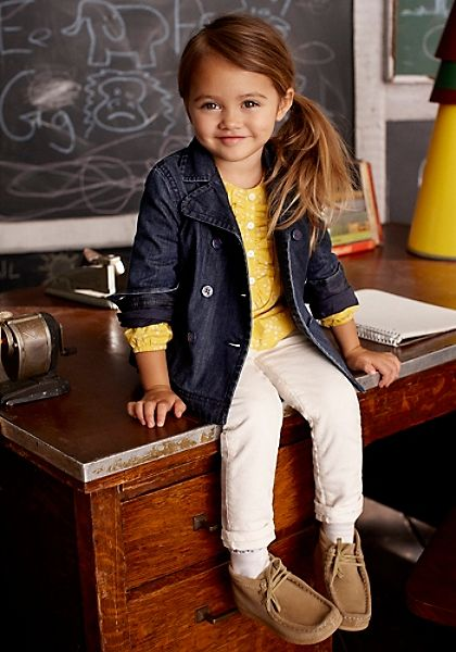 too cute style  for school kid girl fashion look
