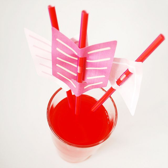 Arrow Straws by wildolive, via Flickr  I thinks these were meant for Valentine's Day but this would be really cool for a Hunger Games party...