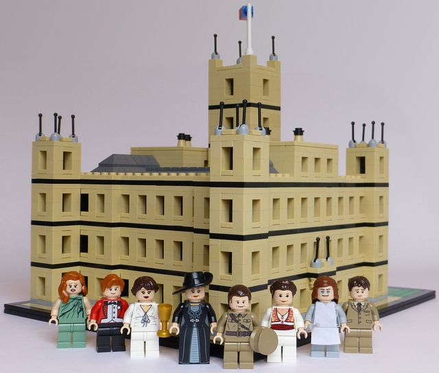 Lego 'Downton Abbey.' Behold two great things of the world becoming one. @Mary Powers Powers Evans @Elizabeth Lockhart Lockhart Evans