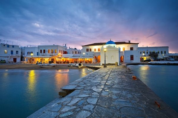 At the old port of Mykonos