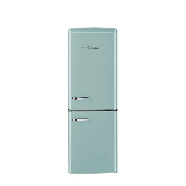 This 7 Cu Ft Retro Bottom Mount Refrigerator Transports You Back To The 50s With Its Iconic Retro Desi In 2020 Bottom Freezer Energy Star Bottom Freezer Refrigerator