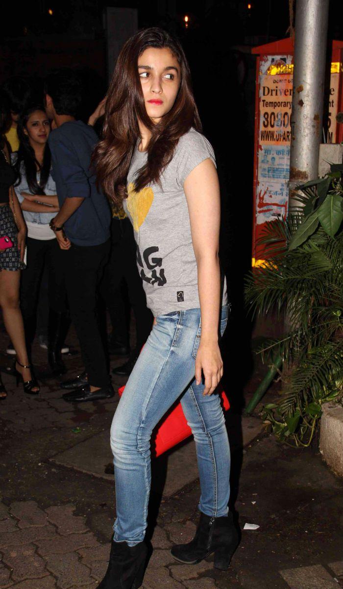 Alia Bhatt spotted enjoying a casual night out in suburban Bandra.