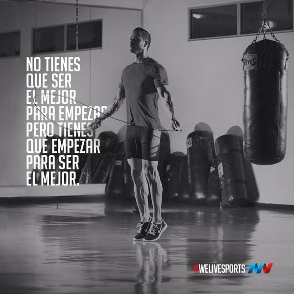 No tengas miedo a fallar. Ten miedo a no intentarlo... ☝️  #WeLiveSports