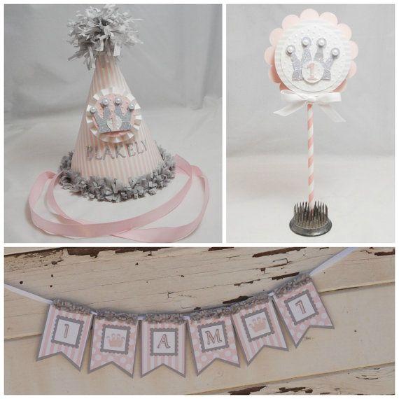 Princess Smash Cake Photo Props Girl 1st by CardsandMoorebyTerri, $36.00