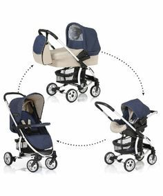 Hauck Malibu Pram and Pushchair Travel System - Moonlight & Almond