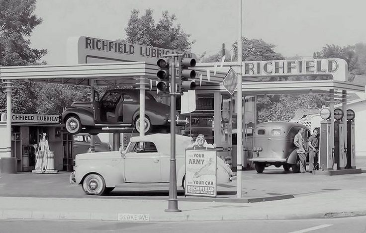1940s Richfield Station Gas Stations Past Present