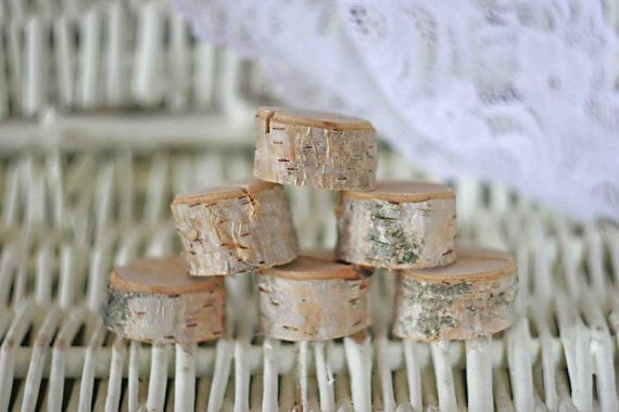 Rustic wedding name card holders wooden place card door MadeByChic, $24.00