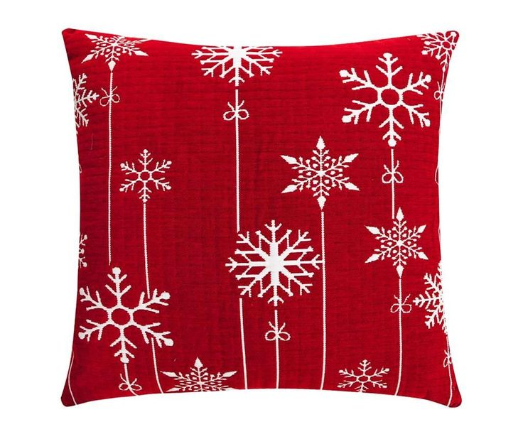 Snowflakes Decoration Red Párnahuzat 50x50 cm - Vivre