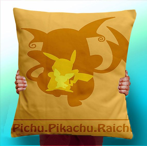Pikachu Evolution  Cushion / Pillow Cover / by ThisShopReallyRocks, £5.00