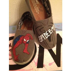 Spiderman Custom youth toms by CustomTOMSbyJC I love these
