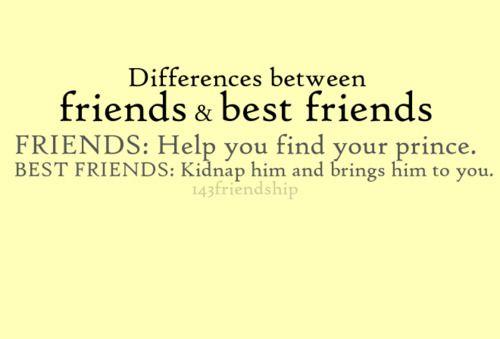 Friends vs. Best FriendsBff 3, Best Friends, Ahahaha, Bestfriends, Too Funny, So True, Prince Charming, Agree, Friends 3