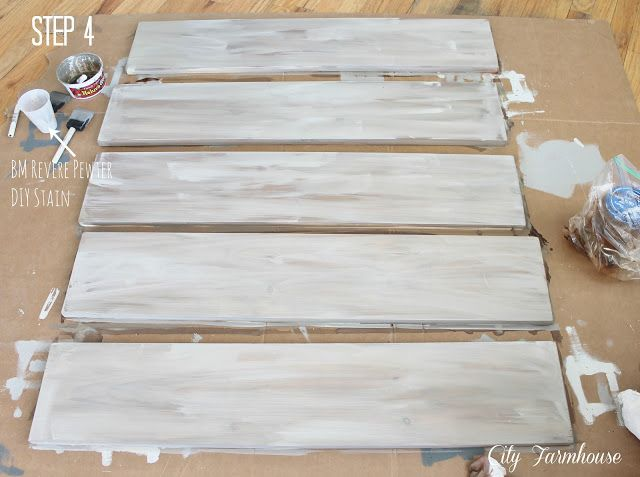 Great tutorial on creating a grey stained look with paint, Ikea Hacked Barnboard Coffee Table Tutorial