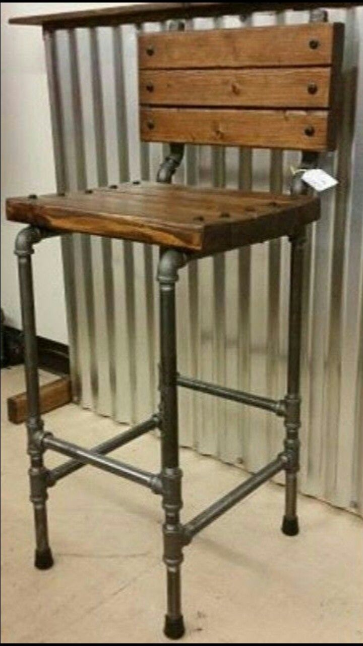 Industrial Bar Stool. & Best 25+ Industrial bar stools ideas on Pinterest | Rustic bar ... islam-shia.org