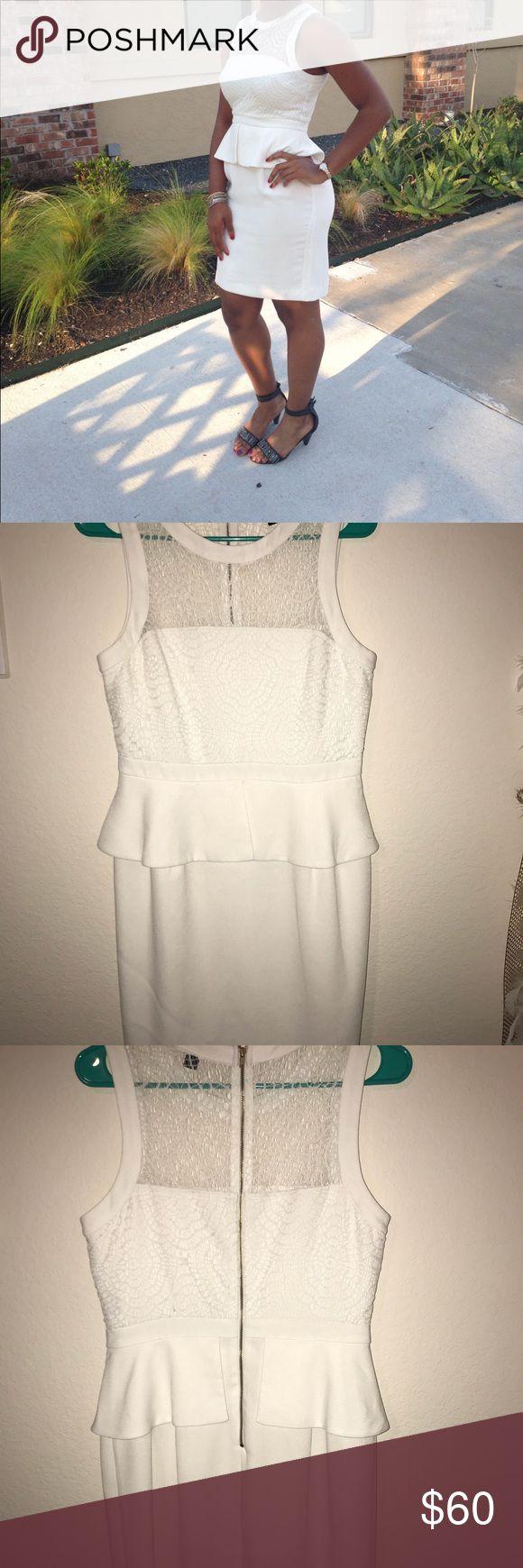 White peplum dress Short, white peplum dress Worthington Dresses