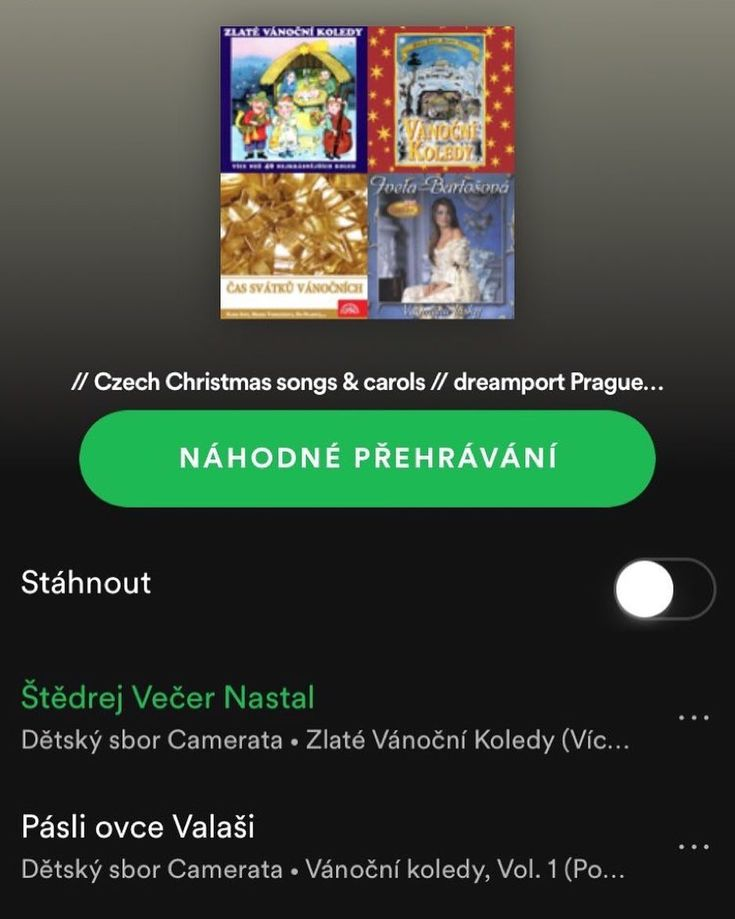 Listen to Czech Christmas songs and carols listed in our playlist on Spotify at bit.ly/czechxmas