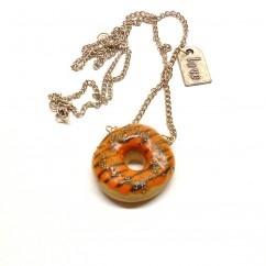 Portakallı donut kolye - #tasarim #tarz #turuncu #moda #nishmoda #orange #design #designer #fashion #trend