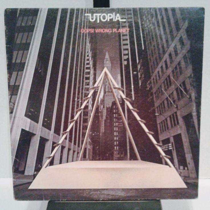 Todd Rundgren Utopia Oops Wrong Planet Vinyl Record LP 1977 Bearsville  #ProgressiveArtRockRocknRoll
