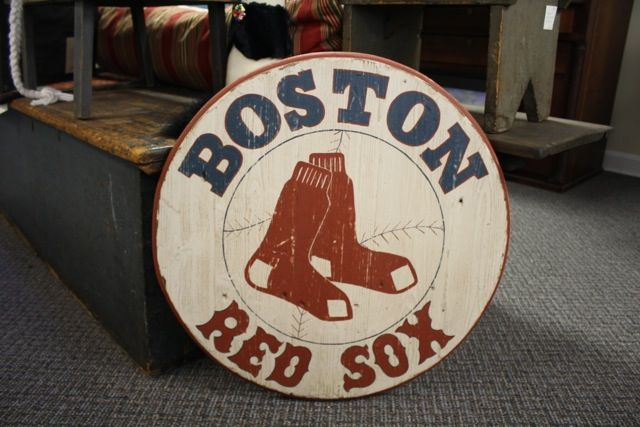 """""""Boston Red Sox"""" sign."""