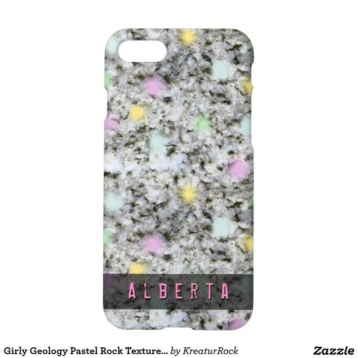 Girly Geology Pastel Rock Texture Custom Name iPhone 7 Case
