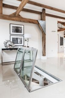 Glass Floor Hatch With Hydraulic Lift Material