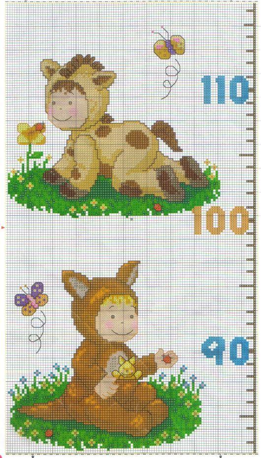 94 best images about punto croce metri crescita per for Alfabeti a punto croce per bambini