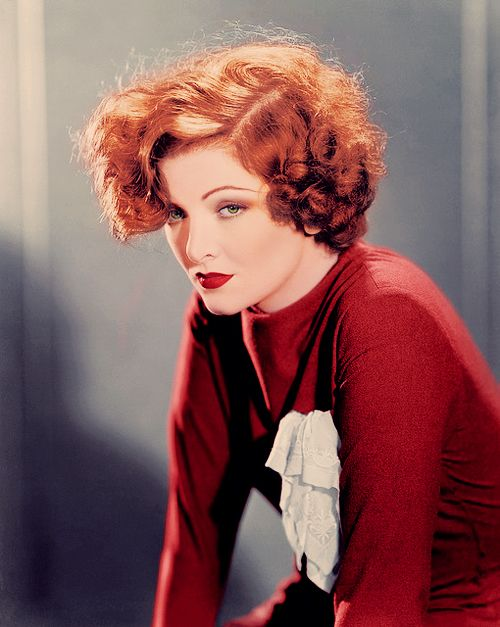 The most gorgeous photo of Myrna Loy ever! #redhead #retro