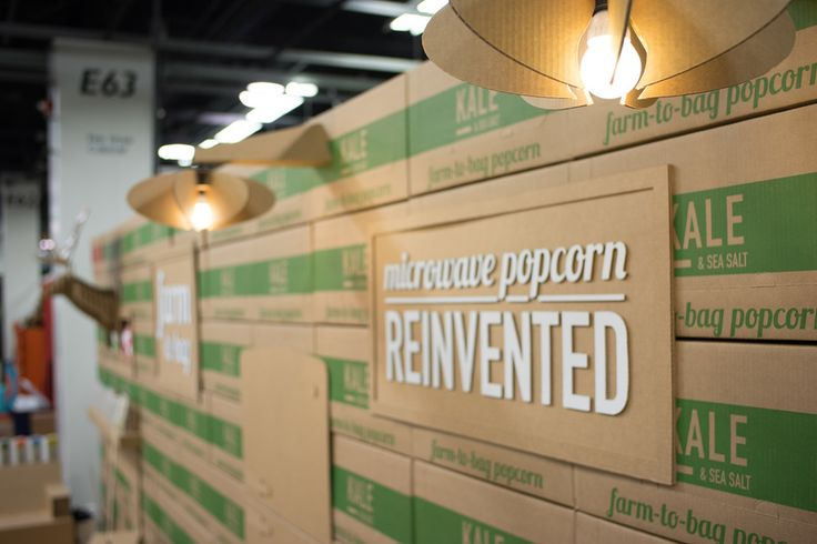 Quinn Popcorn: A Cardboard Trade Show Booth — The Dieline - Branding & Packaging