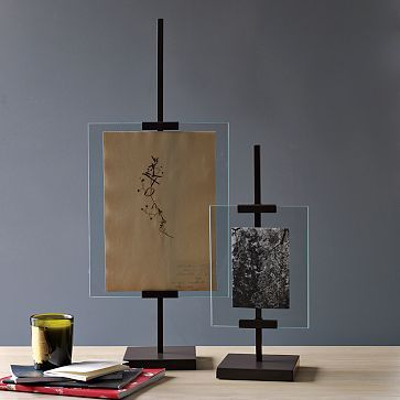I love the Metal Easel Adjustable Floating Frames on westelm.com