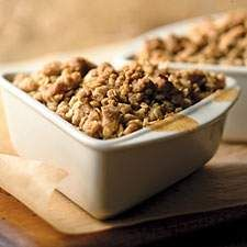 ... apple crisp with a twist: the bright flavor of crystallized ginger