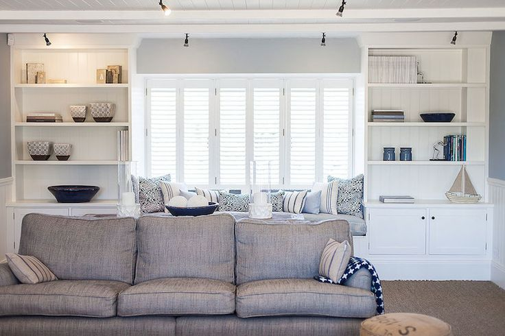 New England Style Living Room Part   49: White And Blue Coastal Living Room  Decorating Ideas New England Style . Part 43