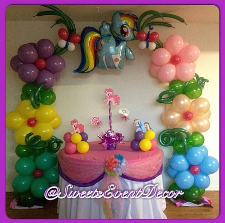 My little pony balloon pinterest pony balloon arch for Balloon decoration los angeles