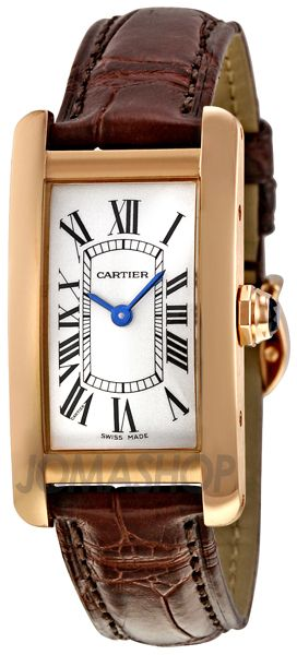 Can I have this!!?  Cartier Tank Americaine 18kt Rose Gold Ladies Watch W2607456