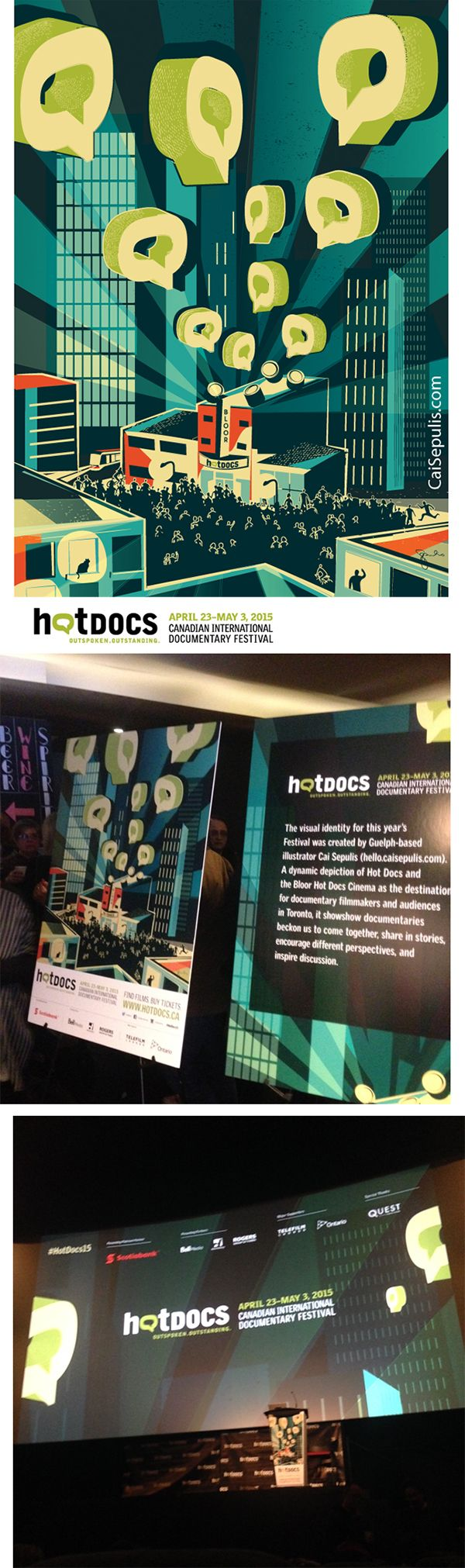 Poster design documentary - Poster Illustration And Design By Cai Sepulis For 2015 Hotdocs Documentary Film Festival In Toronto