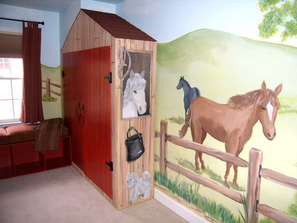 horse mural for Braxton's wall?