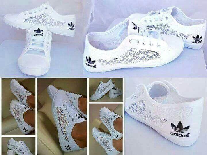 Pin by Salmi on Vêtements et accessoires | Lace adidas shoes ...