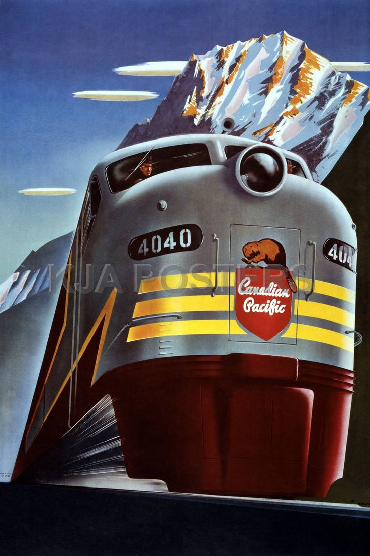 Vintage Posters - Candian Pacific Railway Vintage Travel Poster. Credit: http://www.rainfall.com/posters/travel/115188.htm#