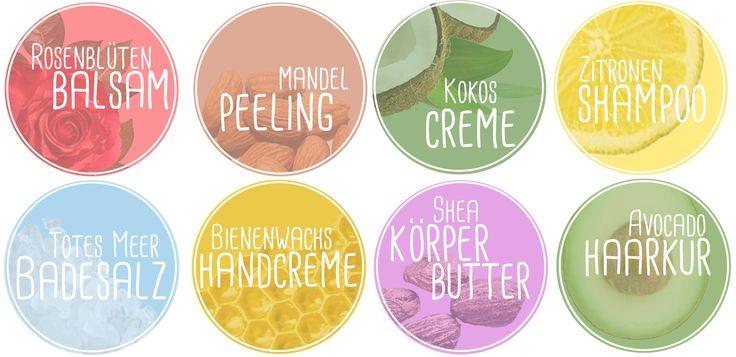 Natur Kosmetik selbermachen Etiketten rund